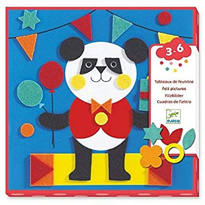 DJECO Gentle Creatures Collage Felt Craft Kit: Toys & Games
