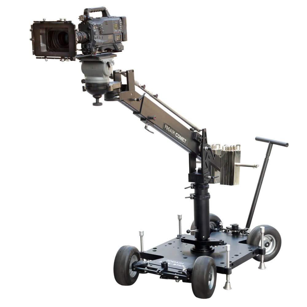PROAIM Comet Heavy-Duty Euro-Mount 12ft Camera Jib Crane, Payload up to 80kg/156lb | Versatile Indoor/Outdoor Jib - Telescopic Arms on Both Sides | for Euro-Base Dollies | Flight Case (JB-COMT-01) by PROAIM