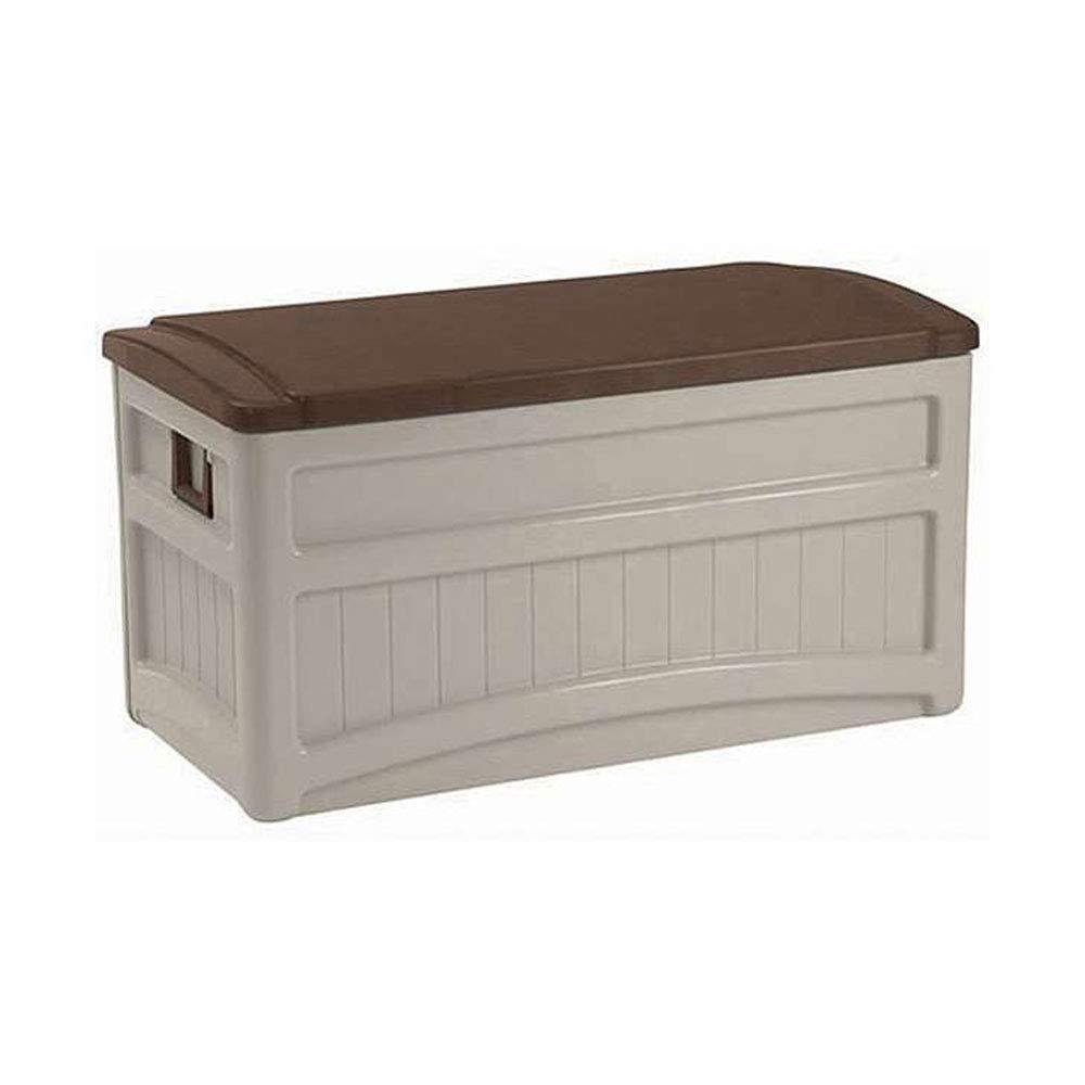 Patio Storage Box Heavy Duty Plastic Floor Garage Deck BBQ Grill Storage Cabinet