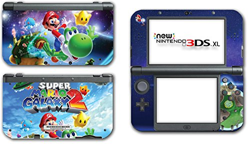 Super Mario Galaxy 2 Yoshi Flying Star Video Game Vinyl Decal Skin Sticker Cover for the New Nintendo 3DS XL LL 2015 System Console