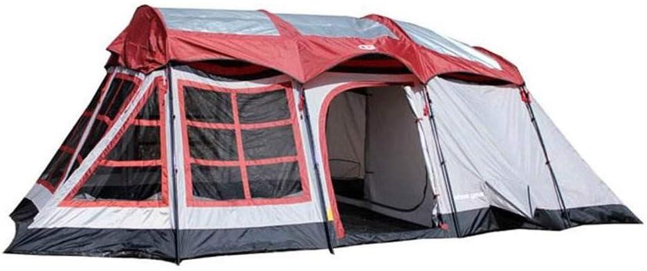 Tahoe Gear Glacier 14 Person 3-Season Family Cabin Camping Tent w/Rain Fly