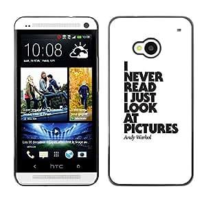 FlareStar Colour Printing Pictures Never Read Funny Poster Text cáscara Funda Case Caso de plástico para HTC One M7
