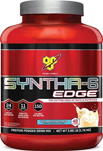 BSN SYNTHA-6 EDGE Protein Powder, Whey Protein, Hydrolyzed Whey, Micellar Casein, Milk Protein Isolate, Flavor: Vanilla Milkshake, 48 Servings