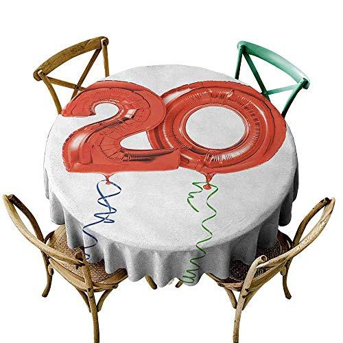 Zmlove Mantel Redondo de poliéster para Primer cumpleaños ...