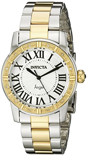 Invicta Women's 14376 Angel Silver Dial Diamond-Accented Two-Tone Stainless Steel Watch