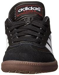adidas Samba Classic Leather Soccer Shoe (Toddler/Little Kid/Big Kid),Black/ White,3.5 M US Big Kid