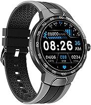 Relógio inteligente masculino com monitor de oxigênio, pressão arterial, 24 modos de exercício, detecção de fr