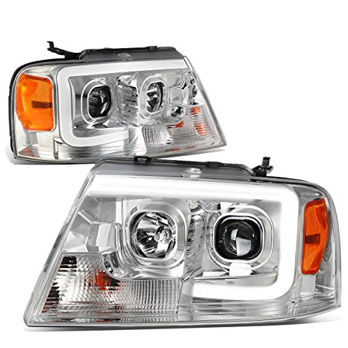 DNA Motoring HL-3D-G2-F1504-CH-AM 3D LED Bar Projector Headlight[04-08 Ford F150]