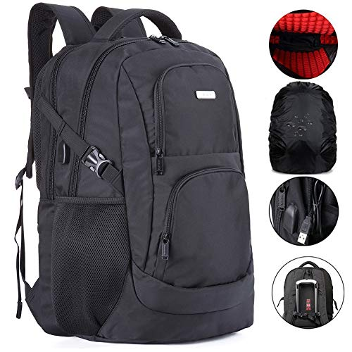 Large Travel Laptop Backpack Water Resistent and TSA Friendly 18 Inches Computer Back Pack with USB Charge Port Shockproof for Men and College School ()