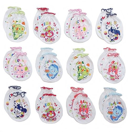 songbai-newborn-baby-boys-and-girls-glovesno-scratch-mittens-100-cotton-12-pairs