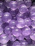3000 Purple Metallic Glittered Specks inside Water Jelly Beads For Sensory PLay