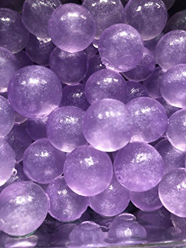 3000 Purple Metallic Glittered Specks inside Water Jelly Beads For Sensory PLay by Cosmo Beads