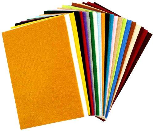 10 opinioni per Creativ- Fogli in feltro acrilico, 20 x 30 cm, 24 pezzi, colori assortiti
