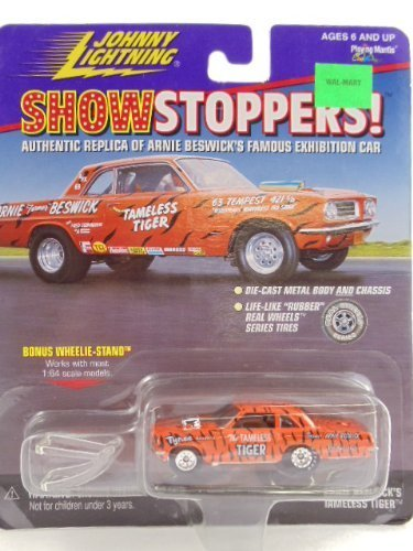 - Johnny Lightning - Show Stoppers - Authentic Riplica of Arnie Beswick's Famous Exhibition Car, the Tameless Tiger with Wheelie Stand by Johnny Lightning