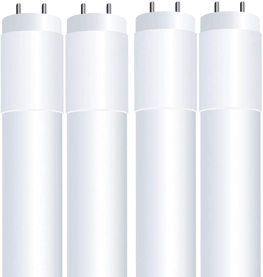 """Feit Electric T48/840/LEDG2/4 14W 32W/40W Equivalent Non-Dimmable 1750 Lumen 4FT Direct Replacement Plug and Play LED T8/T12 Linear Tube Light Bulb, 48"""" L x 1"""" D, 4100K (Cool White), 4 Count"""