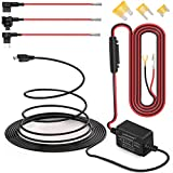 Dash Cam Hardwire Kit, Micro USB Port, DC 12V - 24V to 5V/2A Max Car Charger Cable kit with Fuse, Low Voltage Protection for Dash Cam Cameras (Micro USB and Fuse Kit)