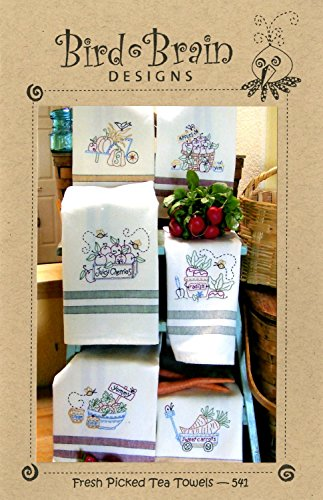 - Fresh Picked Tea Towels Embroidery Pattern by Robin Kingsley from Bird Brain Designs 541