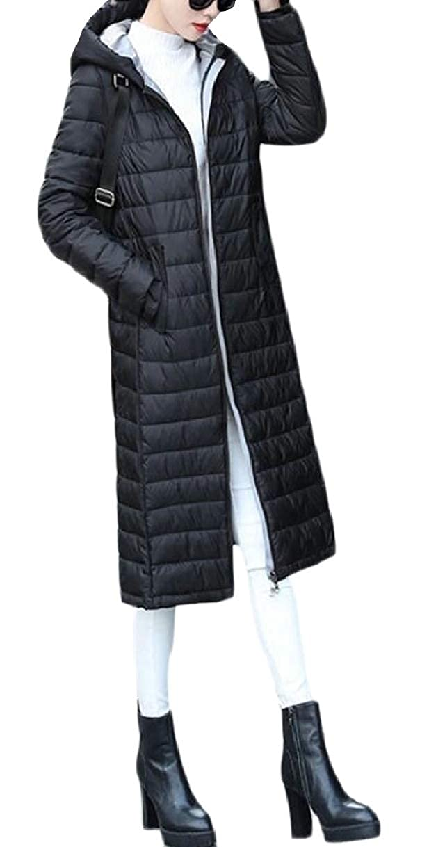 1 LEISHOP Women Long Maxi Lightweight Slim Fit Hoodies Down Jacket Coat Outwears