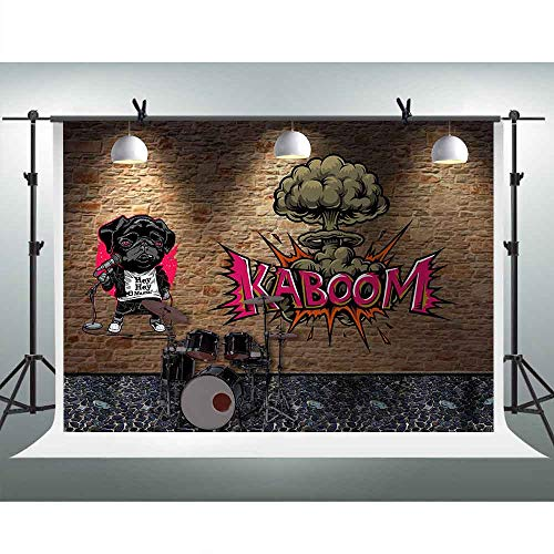 FHZON 7x5ft Symphony Photography Backdrops Puppy Singing Boom