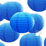12 Mixed Size Royal Blue Paper Lantern Lampshade for Wedding Birthday Party Garden Home Decoration