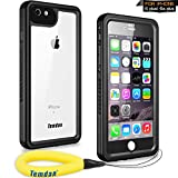 Temdan iPhone 6s Plus / 6 Plus Waterproof Case with Kickstand and Floating Strap Shockproof Waterproof Case for iPhone 6s Plus / 6 Plus(5.5inch) (Black)