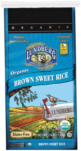 Lundberg Family Farms Organic Brown Sweet Rice, 25-Pound by Lundberg