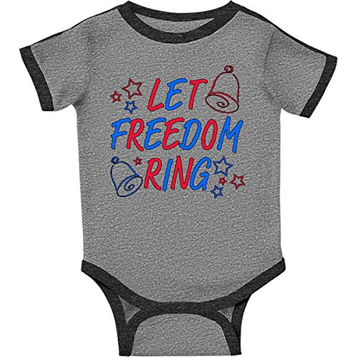 inktastic - Let Freedom Infant Creeper 6 Months Ringer Heather and Smoke 29ab4