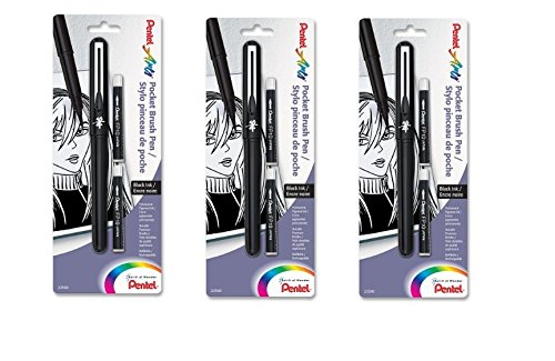 Pentel Pocket Brush Refills GFKP3BPA