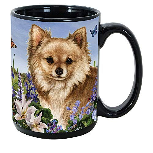 Imprints Plus Dog Breeds (A-D) Chihuahua Long Haired Fawn 15-oz Coffee Mug Bundle with Non-Negotiable K-Nine Cash (chihuahua long haired fawn 055)