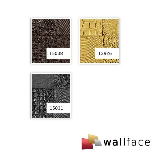 WallFace 15031 COLLAGE Wall panel leather 3D interior luxury wallcovering decoration self-adhesive black | 2,60 sqm by Wallface (Image #2)