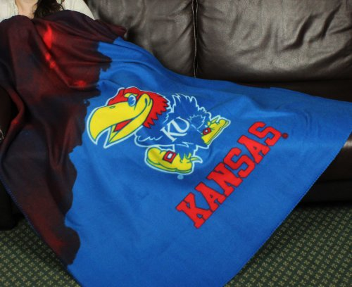 Kansas University Jayhawks NCAA Fleece Throw Blanket by Northwest