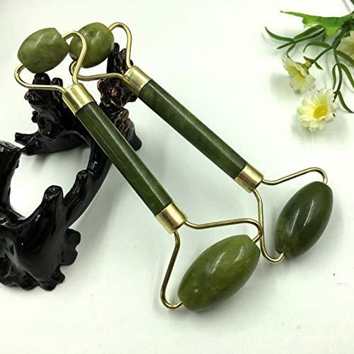 - Jade Roller Massager Natural Serpentine Jade Massage Wand Face Massager Roller