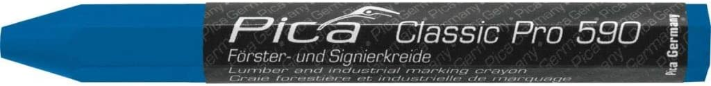 Pica F/örsterkreide Signierkreide Kreide Classic Pro 590 12 St/ück 12 x 120mm Blau