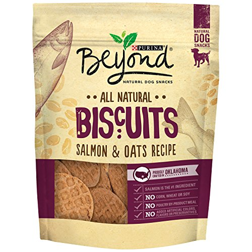 Purina Beyond Natural Limited Ingredient Biscuits, Salmon & Oats Recipe Dog Treats, 25 Oz - Dog Biscuits Natural
