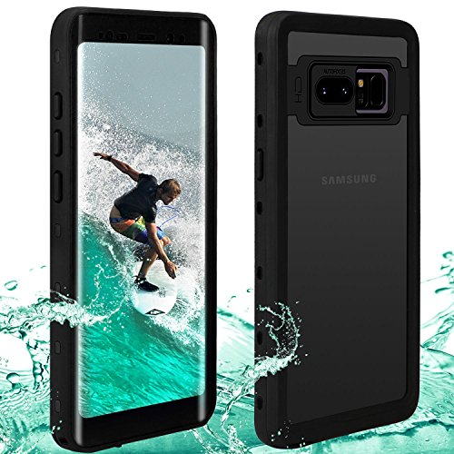 Waterproof Note 8 Case | Touchable Heavy Duty Protection Cellphone Cover | Underwater Full Body Shock-Proof Dirt-Proof Soft Cases for Samsung Galaxy Note 8 (6.3)