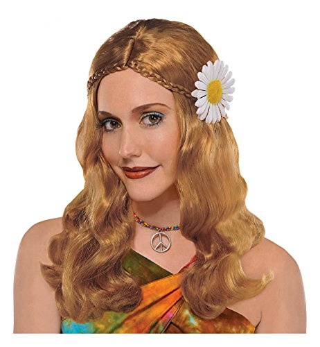[Hippie Chick Wig Costume Accessory] (60s Dress Up Costumes)
