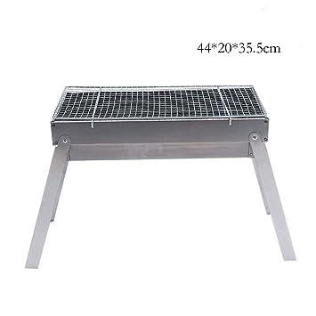 Binglinghua® Parrilla portátil plegable de acero inoxidable para barbacoa al aire libre, picnic,