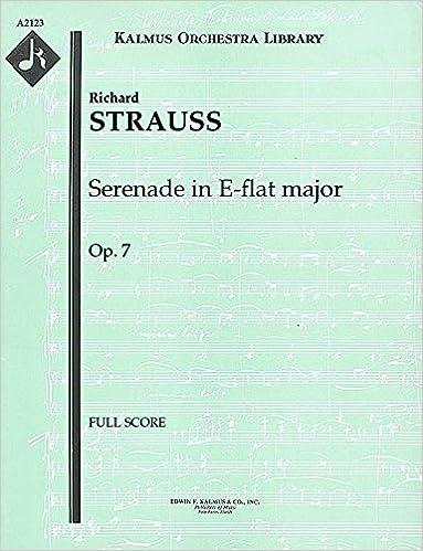 Serenade in E-flat major, Op.7: Full Score [A2123]
