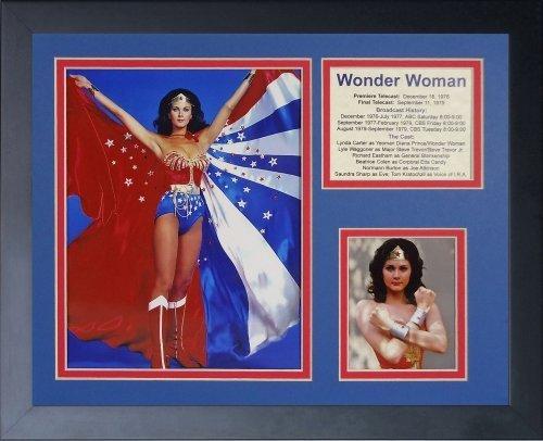 """Legenden Sterben Nie """"Wonder Woman Cape"""" gerahmtes Foto Collage, 11 x 35,6 cm von Legends Never Die"""
