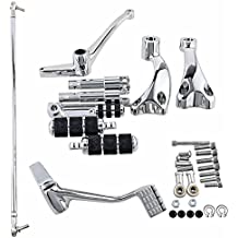 Forward Controls Chrome Complete Assembly for Harley Davidson Sportster XL 1200 883 Pegs Levers Linkages & Hardware