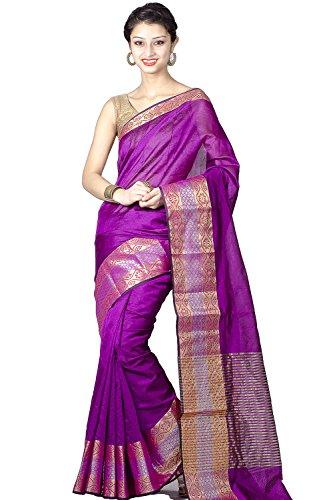Chandrakala Cotton Silk Saree(8437_Purple)