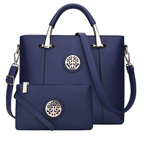 Bag Leather Pu S862 handle Bag Style Shoulder 310 Blue New Dissa Top qxUBa0q