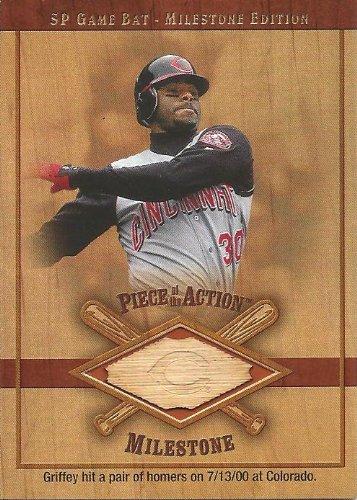 Ken Griffey Jr 2001 Upper Deck SP Game Bat Milestone Piece of the Action Milestone Bat Card Seattle Mariners