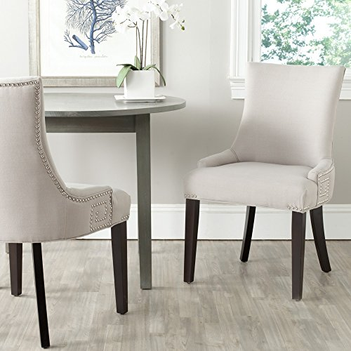 Safavieh Mercer Collection Gretchen Dining Chair, Taupe and Espresso, Set of 2 (Espresso Living Room Chair compare prices)