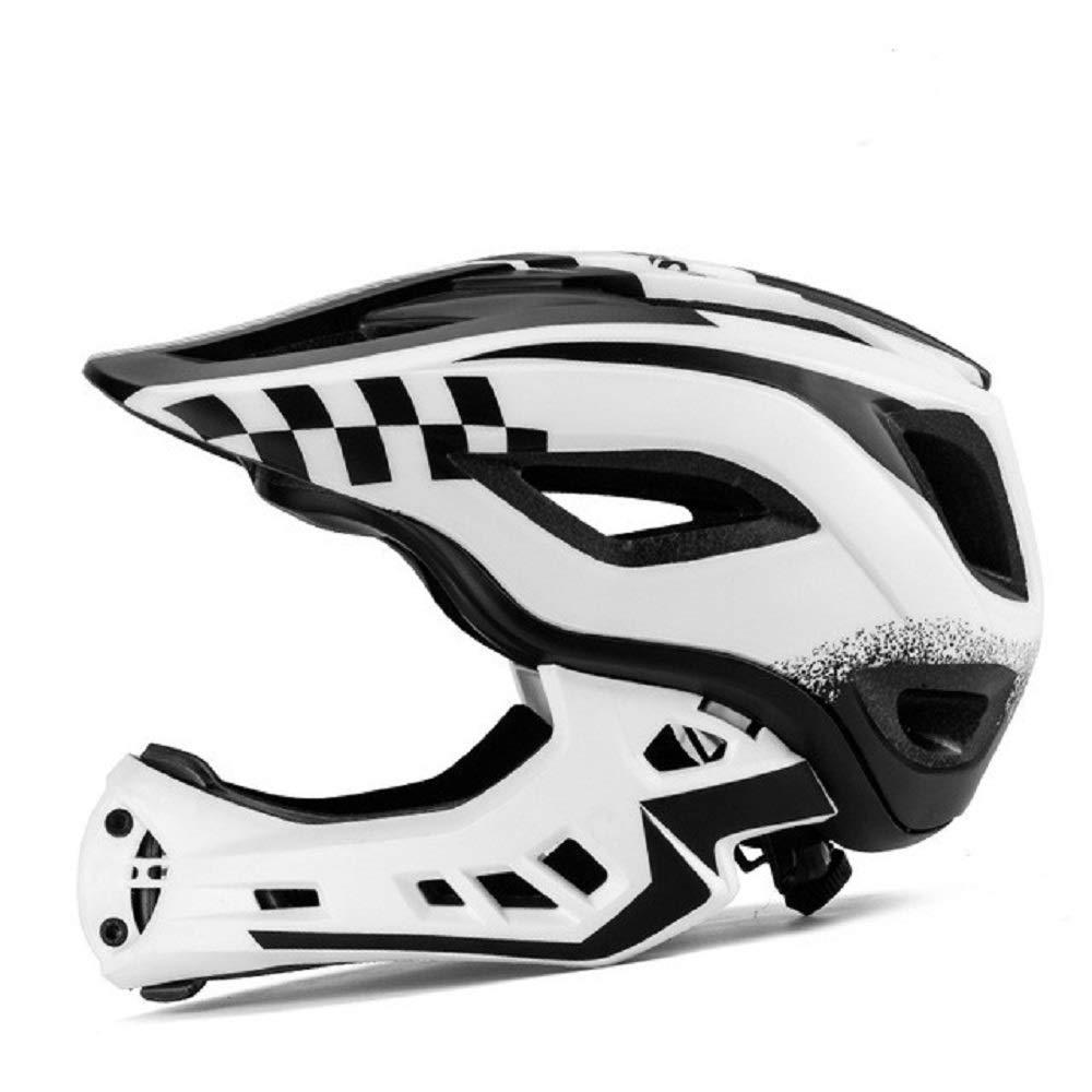 J.N.F. Helmet for Children Skateboard Helmet for Children Breathable Protection Adjustable Primary schoolchild Sports Helmet (Color : White)