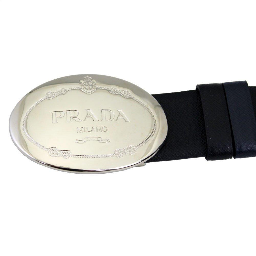 437d303ee9b1 Amazon   PRADA(プラダ) ベルト メンズ リバーシブル サークルロゴ バックル レザー ブラック/ネイビー 40インチ 100cm  SAFFIANO NERO+BALTICO 2CM013 2AJ9 F0002 ...