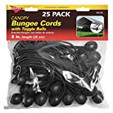 """Keeper 06345 8"""" Canopy Bungee Cord, 25 Pieces"""