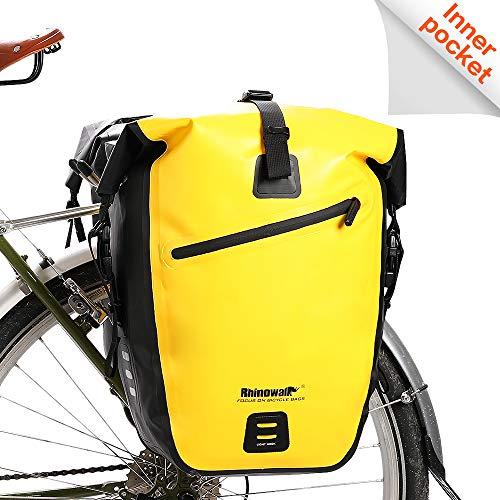 Waterproof Pannier - Rhinowalk Bike Bag Waterproof Bike Pannier Bag 27L,(for Bicycle Cargo Rack Saddle Bag Shoulder Bag Laptop Pannier Rack Bicycle Bag Professional Cycling Accessories)