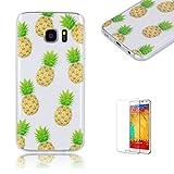 For Samsung Galaxy S7 Edge Case Ultra Thin Soft Gel TPU Case Cute Cartoon Transparent Fit Pattern Case for Samsung Galaxy S7 Edge -Pineapple