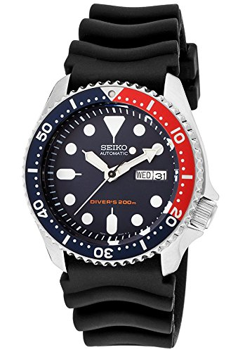 Seiko SKX009K1 Men's Scuba Diver Automatic Black Rubber Navy Blue Dial